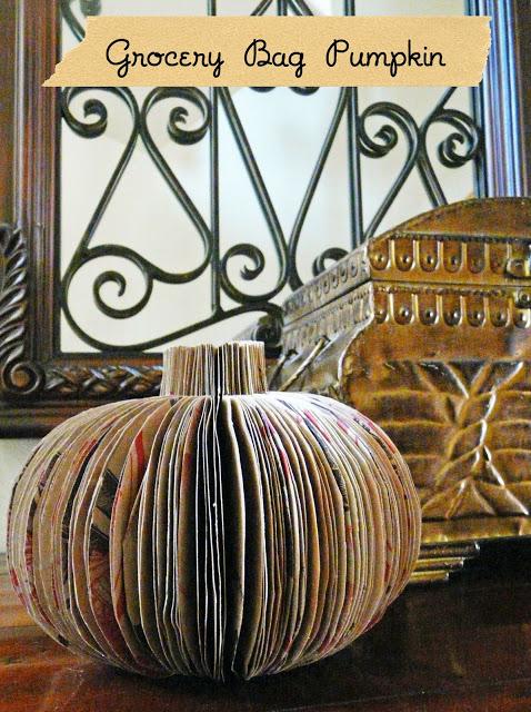 3 dimensional paper bag pumpkin - blissbloomblog.blogspot.com - cover