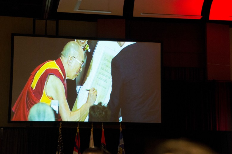 Dalai Lama Signing