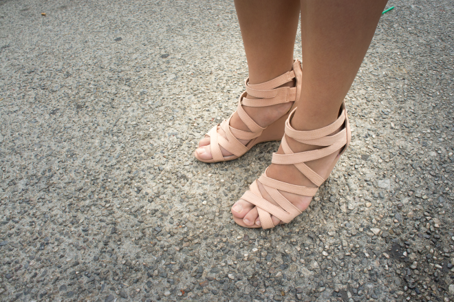 Strappy Blush Wedges