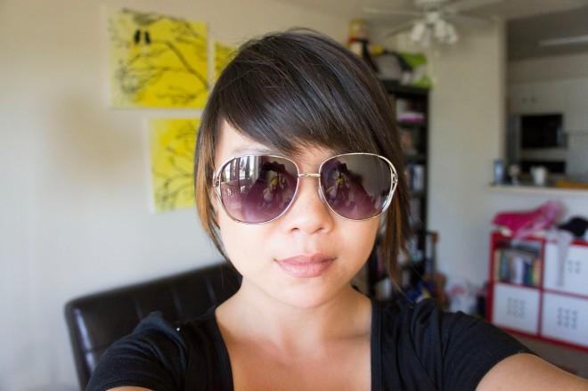 Aviator Sunglasses from Charlotte Russe